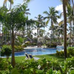 Pool and grounds at Majestic Colonial resort, Punta Cana